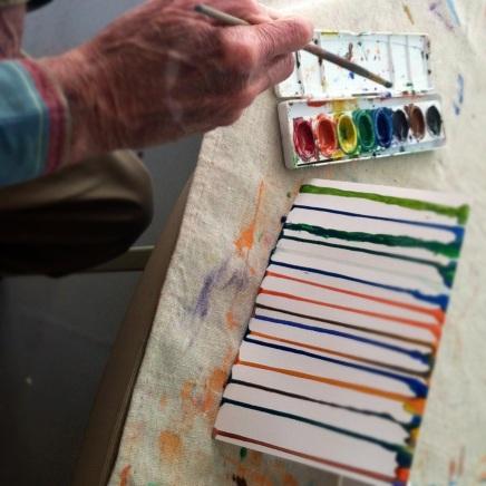 Alzheimer's photo- dribble art